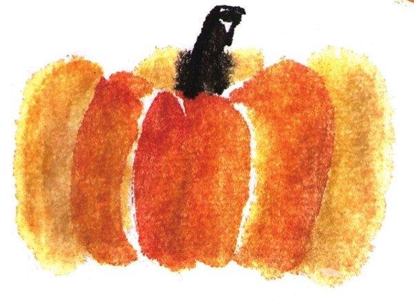 国画南瓜的绘画教程(2)