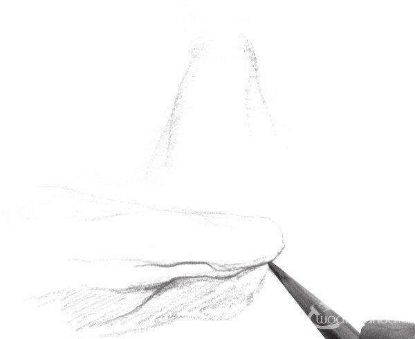 速写石头质感的绘画步骤(2)