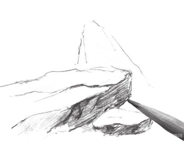 设计素描石头素材