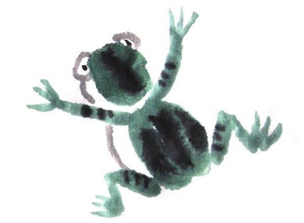 国画青蛙的画法(2)