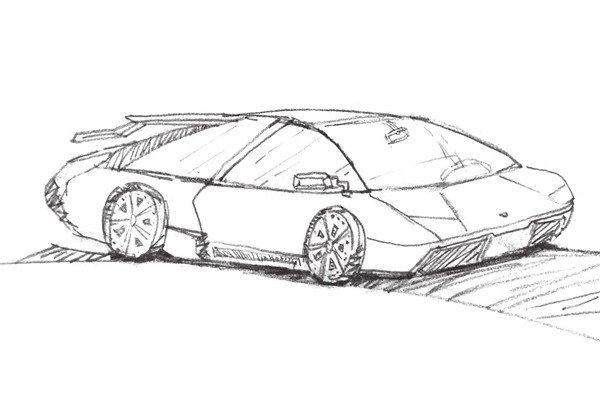 轿车轮胎简笔画