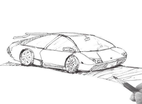 速写小汽车的技法步骤(2)