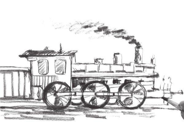 速写火车头的画法