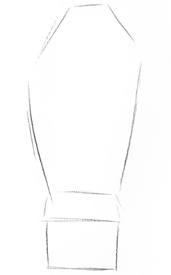 素描郁金香的绘画步骤一