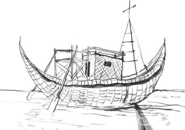 速写帆船的画法步骤五-速写帆船的技法 3