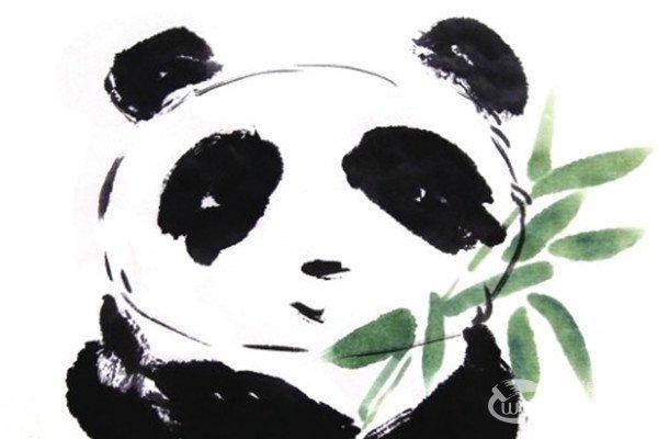国画大熊猫的绘画技法