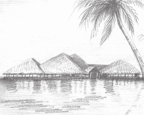 全世界初中生鉛筆風景畫