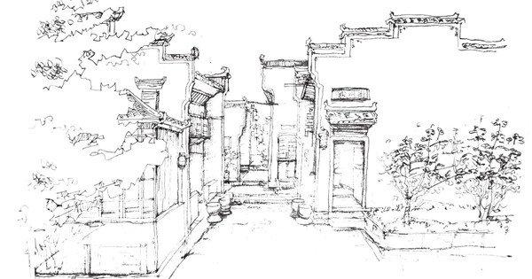 住宅空间构图手绘