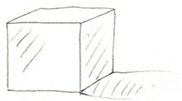 正方形盒子轮廓