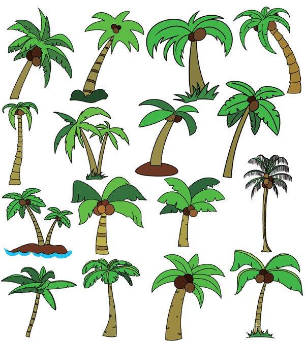树木类简笔画_儿童画教程_学画画_我爱画画网_一个学
