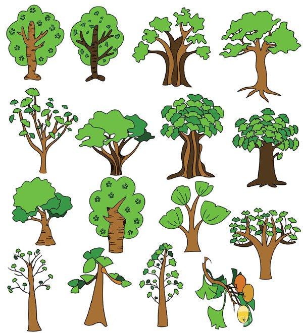 树木类简笔画(5)