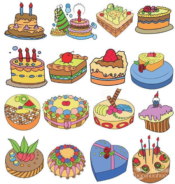 学画画 儿童画教程 简笔画     蛋糕的简笔画二   第2页(共3页) 相关