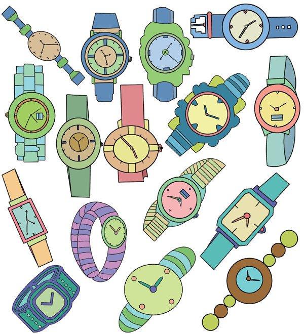 学画画 儿童画教程 简笔画     手表的简笔画    简笔画是以平面化,程