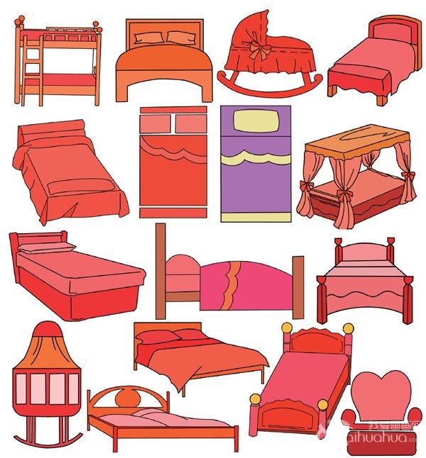 家具简笔画可爱