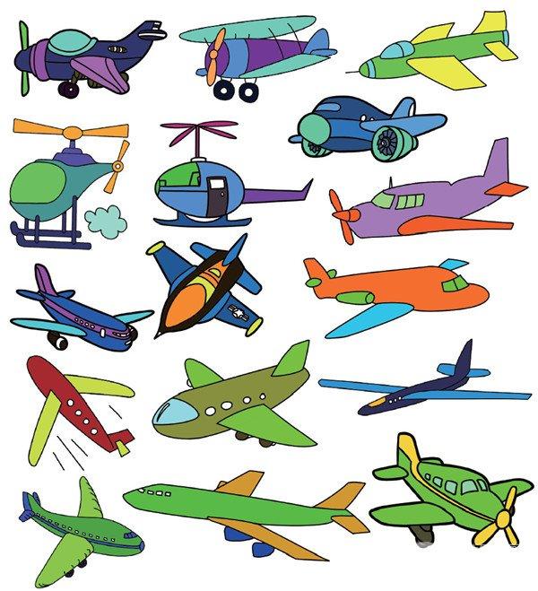 小飞机简笔画图片大全