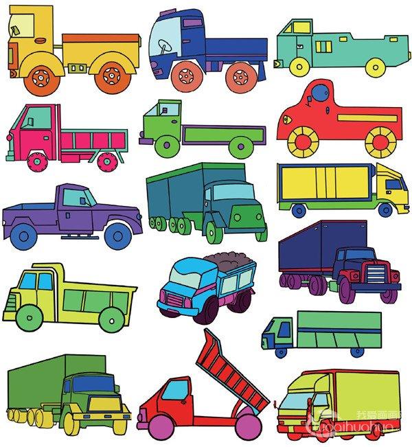儿童简笔画卡车二