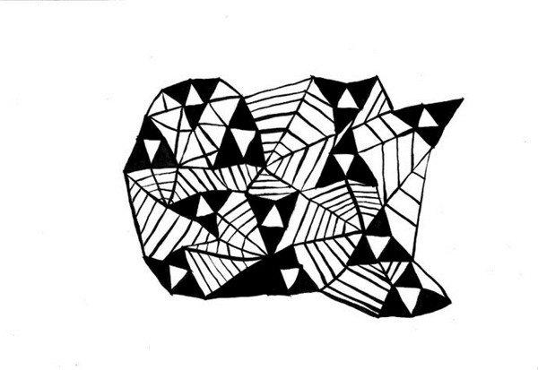 英国伦敦艺术家曼迪普罗斯黑白装饰画赏析_图片_我爱