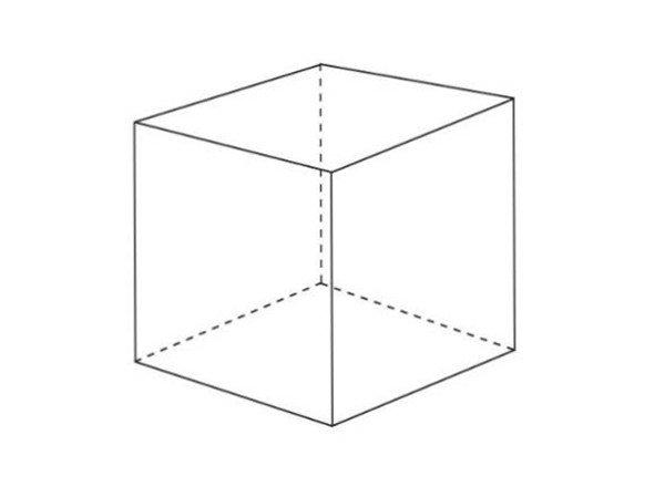 几何体素描之正方体绘画步骤    1,使用2b铅笔,用长直线概括画出正方