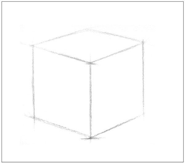 学画画 素描教程 素描石膏像     正方体是特殊的长方体,绘画时一般用