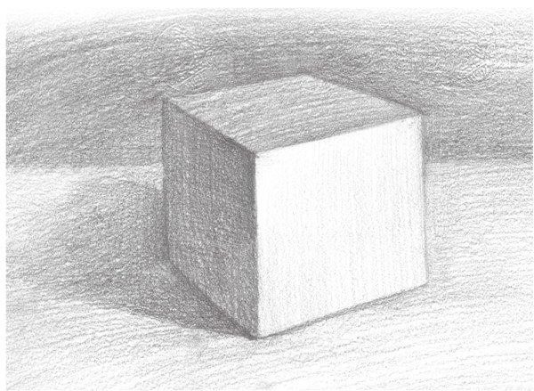素描怎么画正方体 素描正方体的画法图解