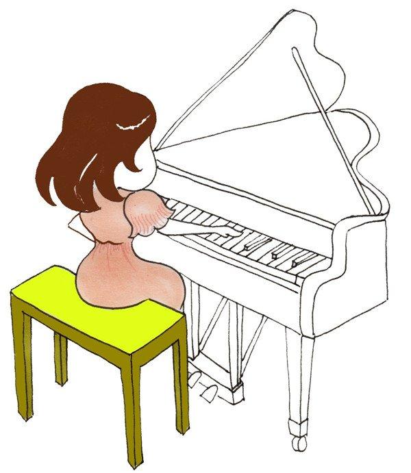 基础人物绘画:钢琴家的绘画步骤六