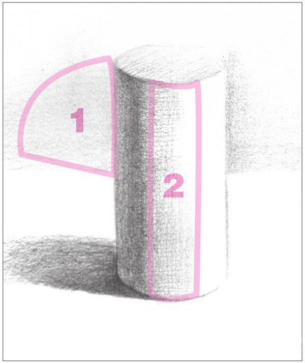 素描圆柱体的绘画步骤(3)