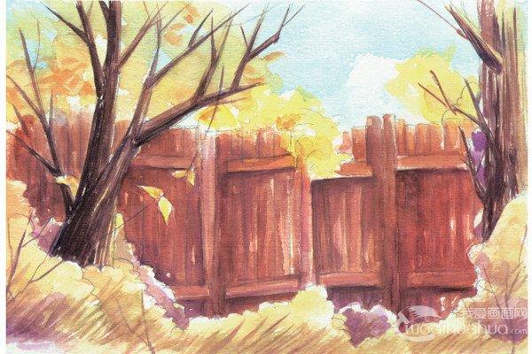 水彩技巧绘制不同的田园风景