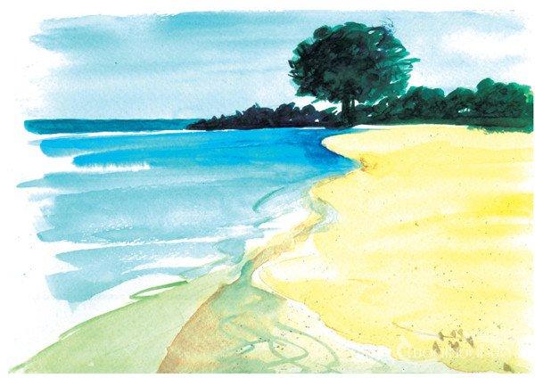 水彩湖泊风景的绘画技法与表现技巧(2)
